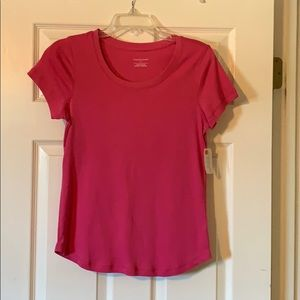 NWT Christopher & Banks Pink Cotton Top